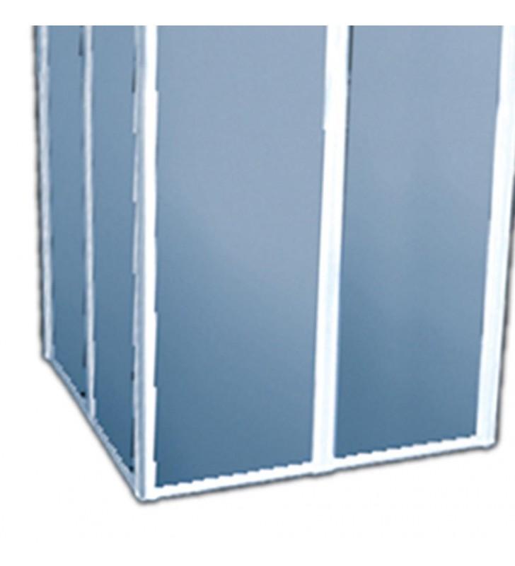 Box doccia di cm 80x80 h 185 in polyglass Goman D0148/01