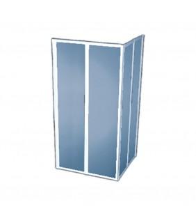 Box doccia di cm 90x90 h 185 in polyglass Goman D0149/01