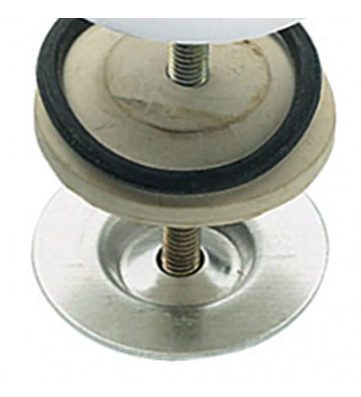 Copriforo per lavabo mm 50, verniciato bianco, tipo pesante RR 695BI