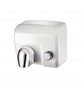 Asciugamani elettrico con pulsante bianco