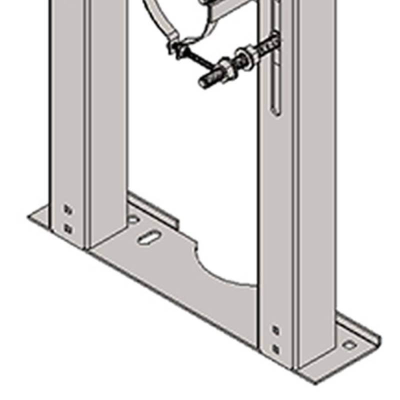 Staffa wc monoblocco sospeso per parete in cartongesso Goman STF01/01