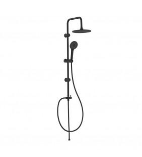 Colonna doccia nera con doccino e deviatore - Serie Mamba Idrobric SCACOL0169NE