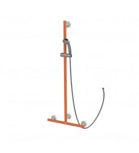Maniglia di sicurezza disabili e anziani angolare verticale arancio di goman