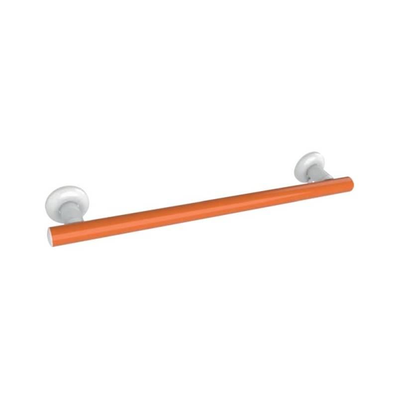 Maniglia sicurezza cm. 60 color arancio per bagni disabili e anziani Goman LEO-M60/65