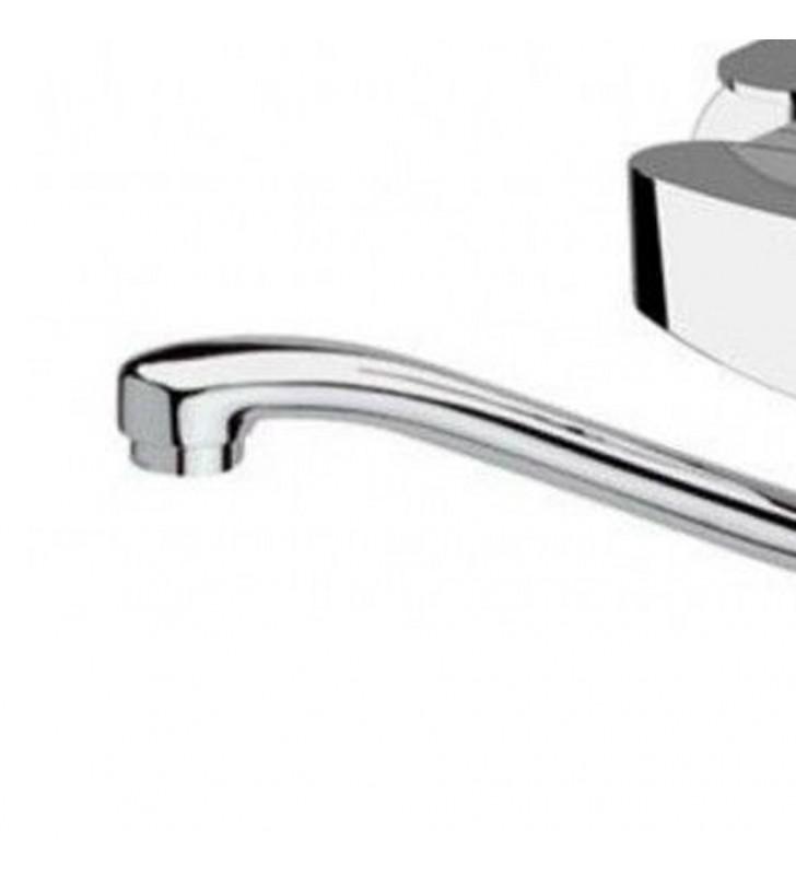 Miscelatore a muro per lavello con bocca a s girevole, risparmio idrico, class line eco Remer LE41SLT8