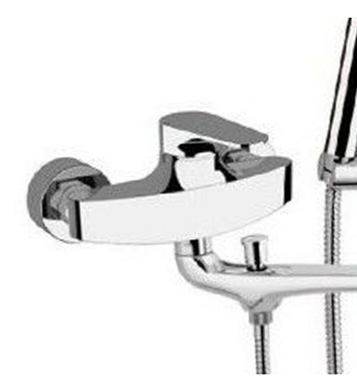 Rubinetto lavabo/vasca class line eco con kit doccia con doccetta minimale a 4 funzioni Remer LE49LT8