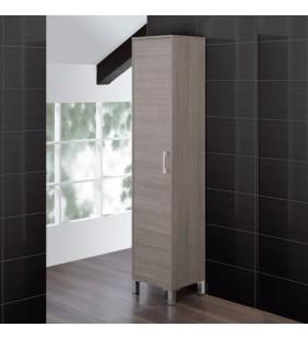 Colonna bagno armadio 40x35x180cm rovere scuro