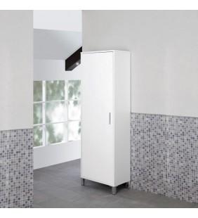 Colonna bagno armadio 60x35x170cm laccato bianco