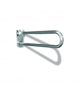 Maniglione barra ribaltabile con piastra lunga cm70 inox bianco Goman XB70/01