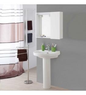 Specchiera bagno 1 anta bianco 67x16x60,5 cm