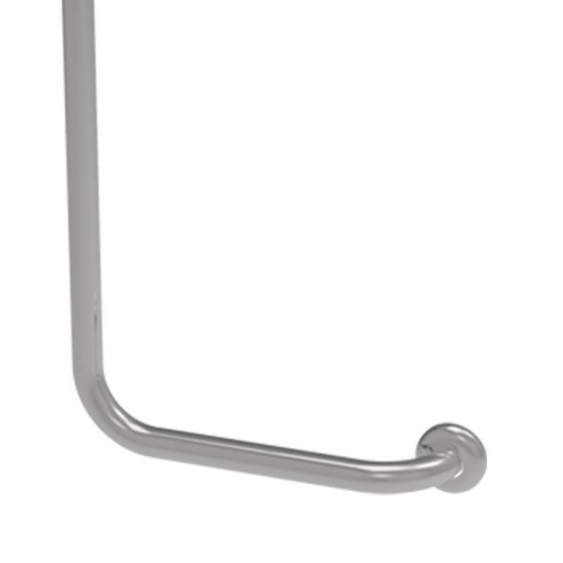 Maniglia verticale sinistra cm 35x65 inox lucido per bagni disabili ed anziani Goman X3565S/93