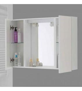 Specchiera bagno 2 ante bianco 90x16x60,5 cm