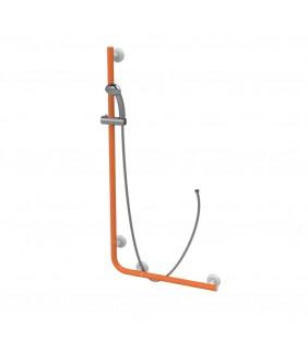 Saliscendi angolare con maniglia 120x60 arancio Goman LEO-X032/65