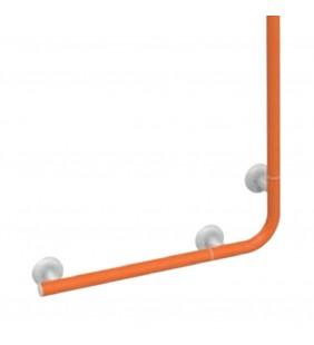Saliscendi angolare con maniglia 120x60 arancio senza doccino e flessibile Goman LEO-X032SDF/65