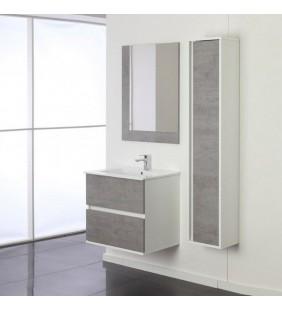 Mobile bagno fabula 60cm sosp. 2 cass. bianco/cemento