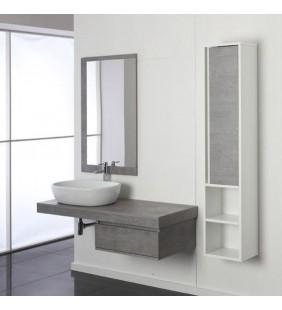 Mobile bagno shelf 120cm ciotola 60cm cemento