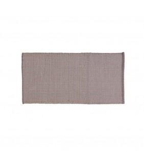 Tappeto cotone grata 50x90 cm grigio