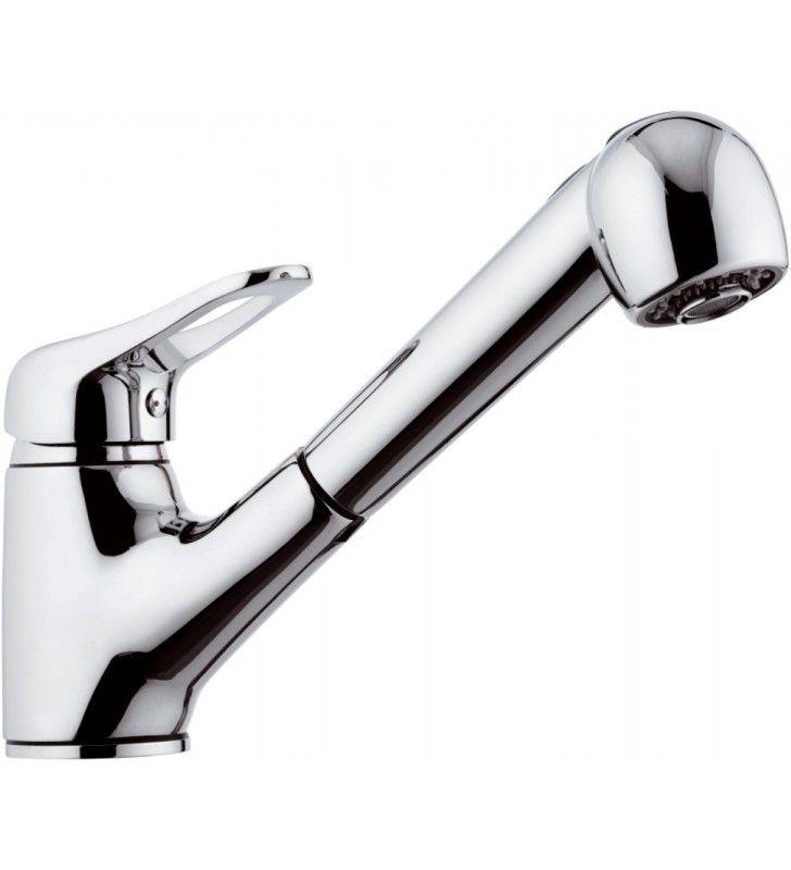 Rubinetto per lavello con doccia estraibile a getto variabile - serie kiss Remer K47