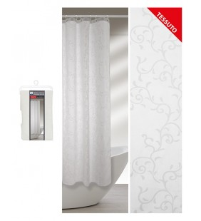 Tenda doccia motivo rami geometrici 240 x 200 in tessuto Feridras 187022