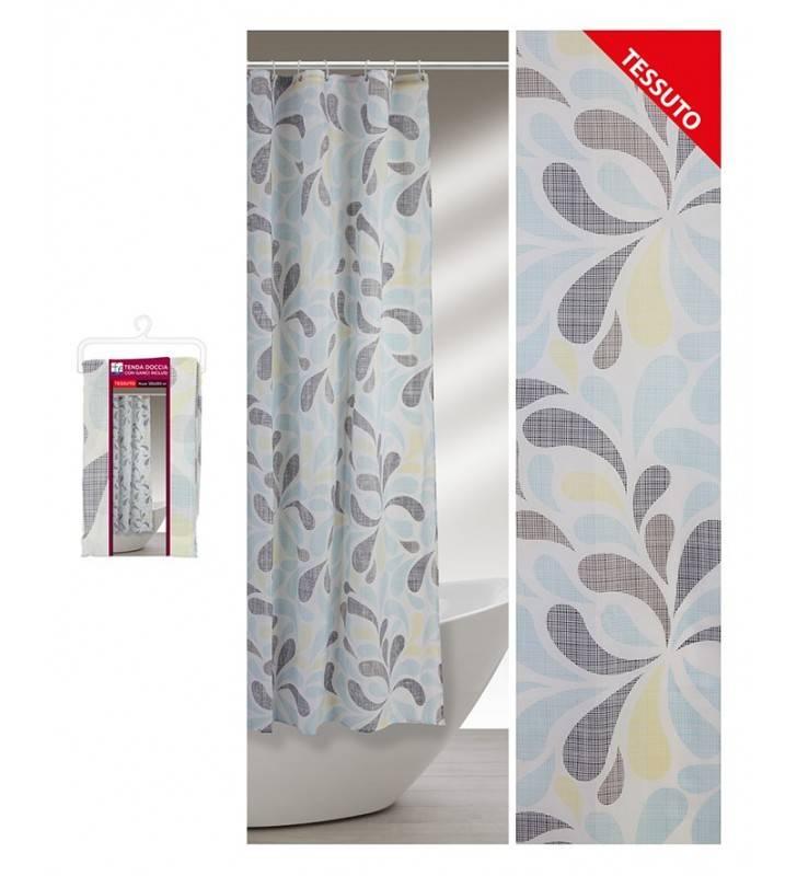 Tenda doccia a gocce colorate 120 x 200 con ganci e fascia di chiusura Feridras 187043