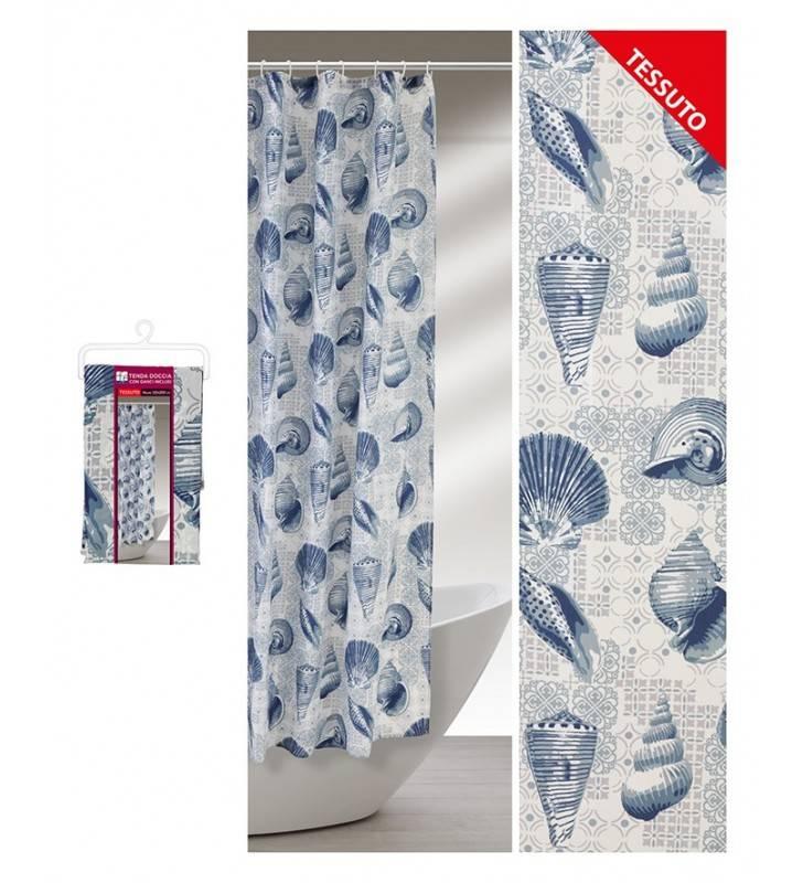 Tenda goccia con motivo a conchiglie bli 120 x 200 in tessuto Feridras 187045