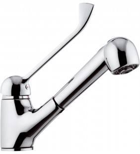 Rubinetto per lavello con leva lunga e doccia estraibile a getto variabile - serie kiss Remer K47LL
