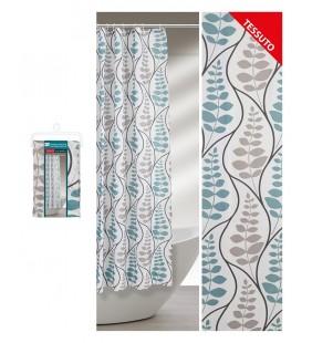 Tenda doccia in tessuto con ganci 180 x 200 con motivo floreale Feridras 187001