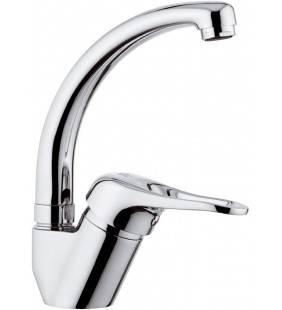 Rubinetto mono acqua per lavello, con bocca alta, tipo lusso, modello corto - serie kiss Remer K42CM
