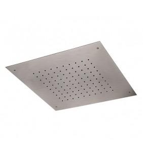 Soffione a soffitto in acciaio inox spazzolato quadrato Remer 357SFS43