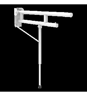 Barra ribaltabile cm.75 con rinforzo regolabile leonardo bianco opaco LEO-B16/09