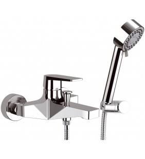 Rubinetto vasca esterno con flessibile e doccia - serie dream Remer D02
