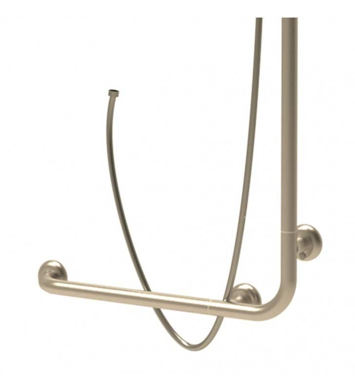 Goman maniglia angolare e verticale inox satinato Goman D0032/91