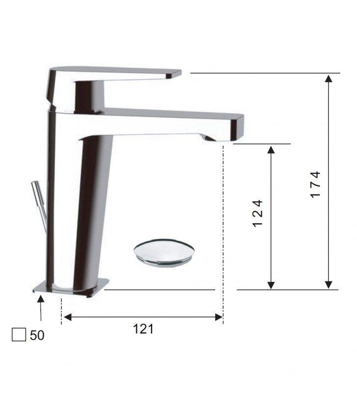 Dream miscelatore per lavabo con o senza scarico 1pollice1/4 cromato Remer D1X