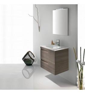 Composizione sospesa vitale 80 cm noce antico completa di specchio e applique