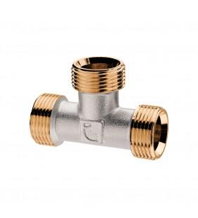 """Raccordo a TEE a compressione per tubo rame MMM 1/2"""" Idrobric SACRAC0704TM"""