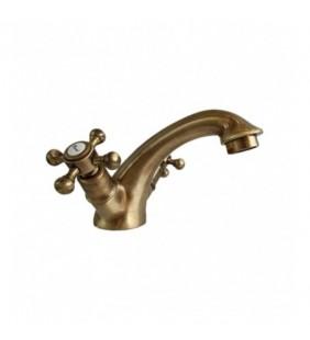 Gruppo lavabo monoforo in ottone con scarico - Serie Bronzo Idroclic 2120