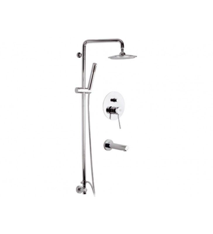 Set doccia con colonna doccia deluxe - serie minimal