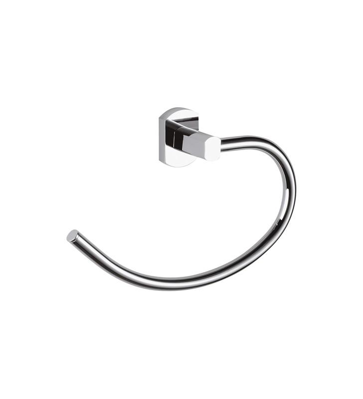 Portasalvietta ad anello con supporto cromato - serie forma Remer FR44