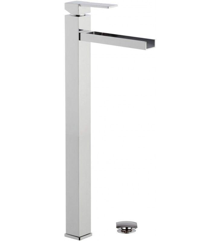 Rubinetto a cascata extra alto per bacinelle design quadro Remer QC1XLXXL
