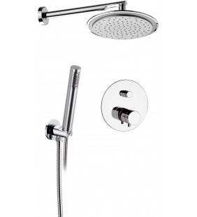 Set doccia con soffione minimale, doccia e miscelatore - serie minimal thermo Remer NT09S02
