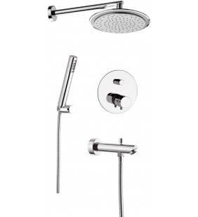 Set doccia con soffione, doccia duplex e miscelatore - serie minimal thermo Remer NT09S03
