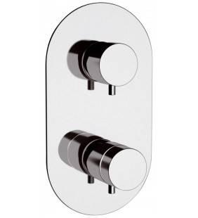 Rubinetto termostatico doccia a due posizioni su piastra unica - serie minimal thermo Remer NT92