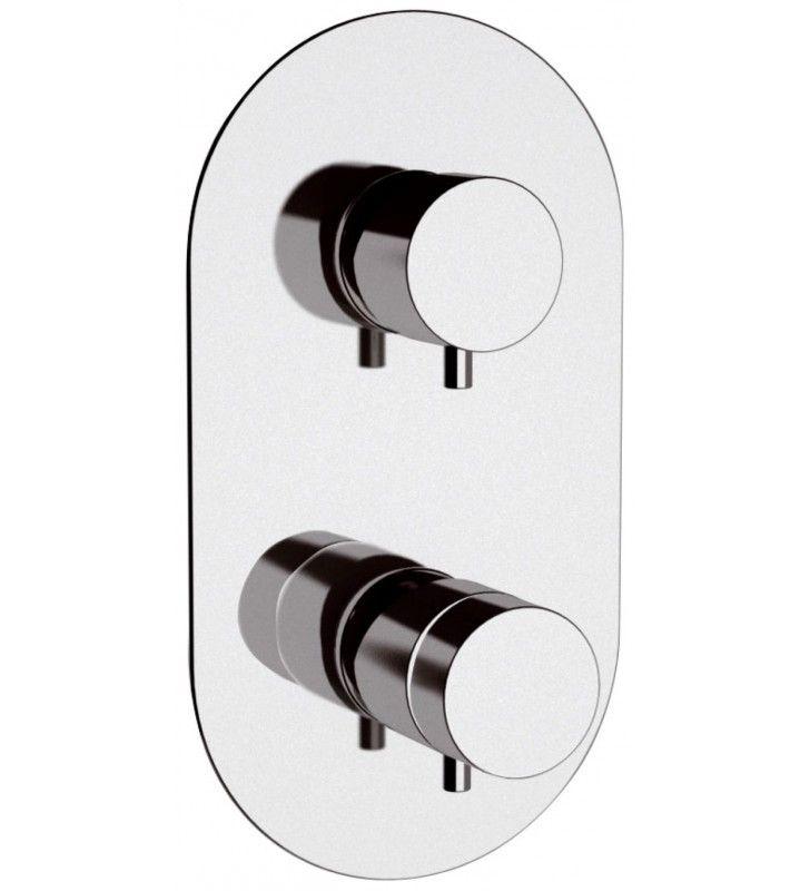 Rubinetto termostatico doccia a due posizioni su piastra unica - serie minimal thermo