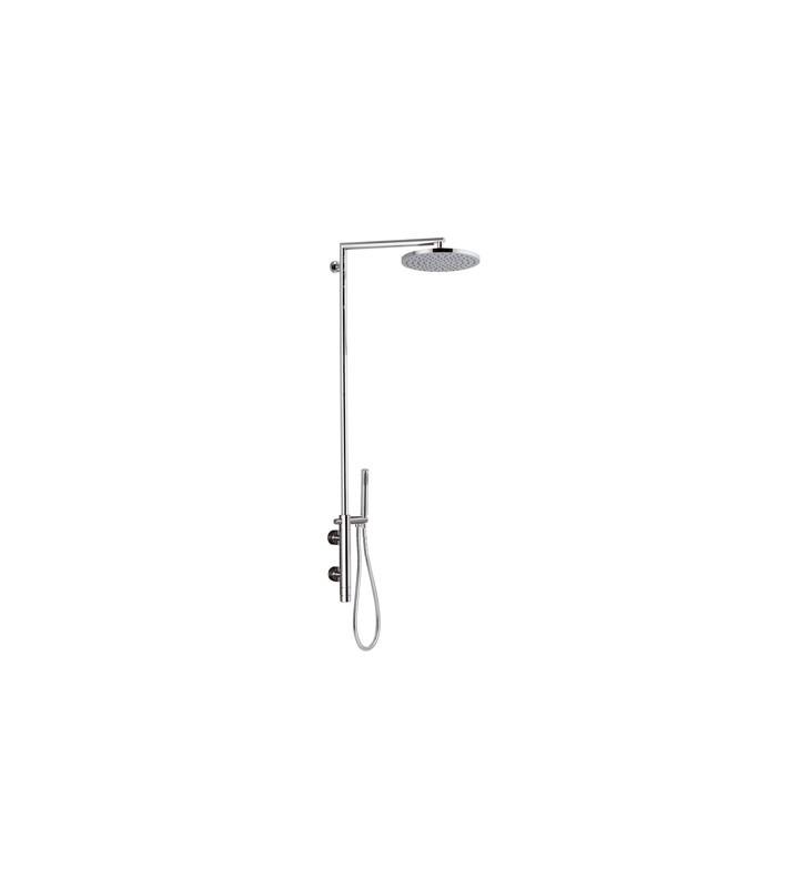 Colonna doccia minimale co doccino, rubinetto termostatico, soffione - serie minimal thermo Remer NT36BXL