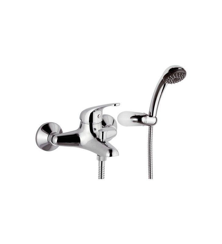 Miscelatore monocomando vasca con accessori.