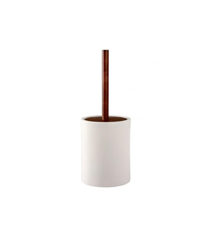 Porta scopino bianco - serie egg Aquasanit QA2140WW