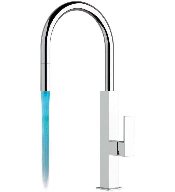 Rubinetto lavello con dispositivo led - serie kitchen colour Remer QKR73