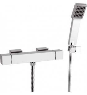 Rubinetto termostatico esterno per doccia con doccia duplex - serie qubika thermo Remer QT39