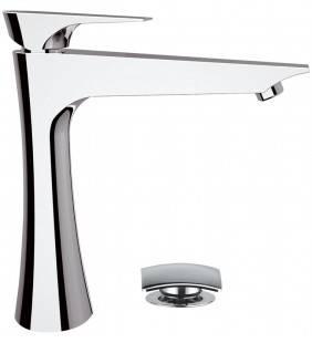 Rubinetto lavabo alto daniel serie diva con piletta click-clack Daniel Rubinetterie DV607CR