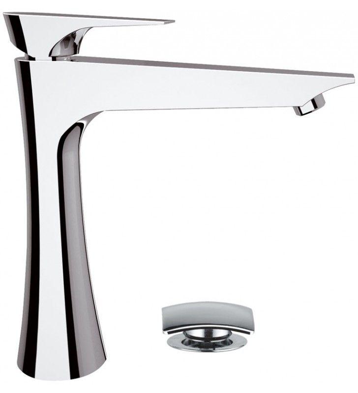 Rubinetto lavabo alto daniel serie diva con piletta click-clack